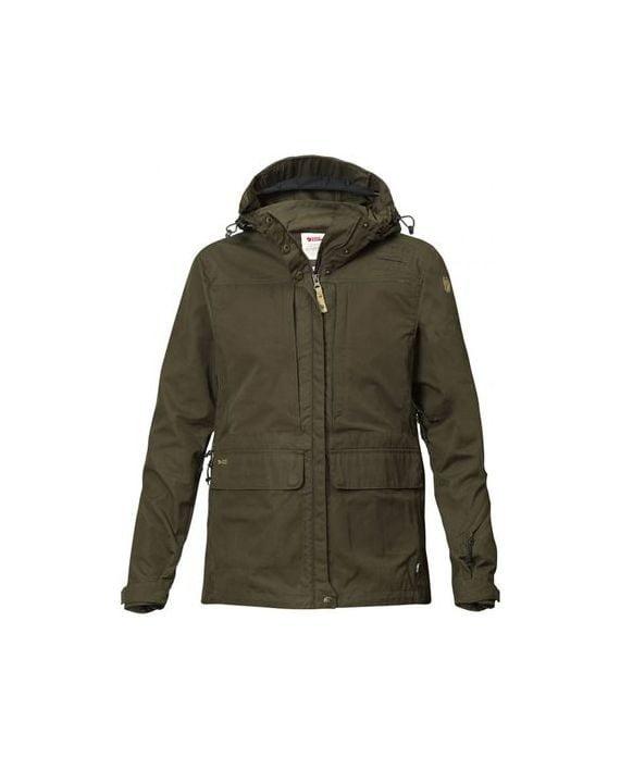 Fjällräven Lappland Hybrid Jacket W DARK OLIVE kjøper du på SQOOP outdoor