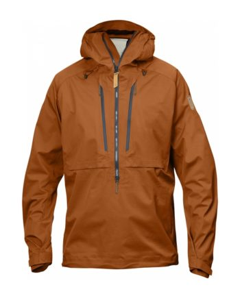 Fjällräven Keb Eco-Shell Anorak Autumn Leaf kjøper du på SQOOP outdoor