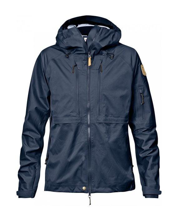 Fjällräven Keb Eco-Shell Jacket W Dark Navy kjøper du på SQOOP outdoor