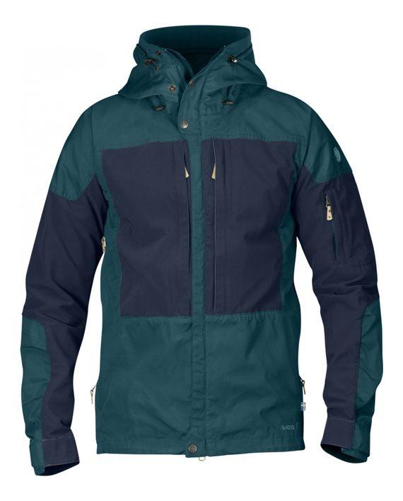 Fjällräven Keb Jacket Glacier Green-Dark Navy kjøper du på SQOOP outdoor