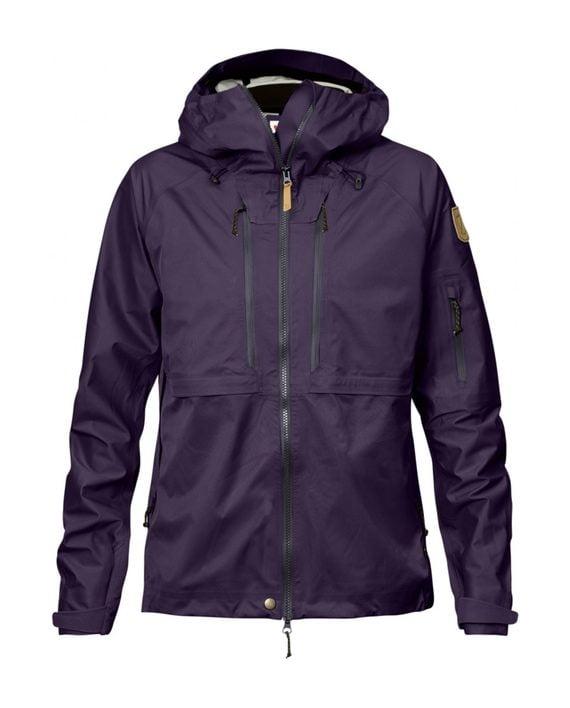 Fjällräven Keb Eco-Shell Jacket W Alpine Purple kjøper du på SQOOP outdoor