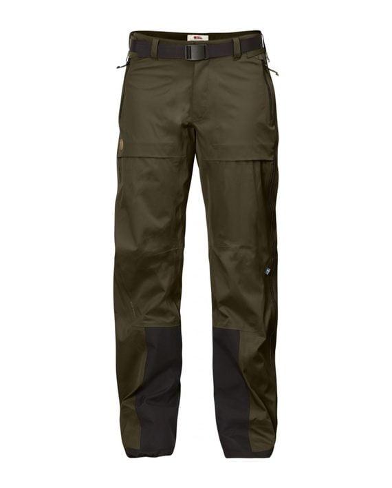 Fjällräven Keb Eco-Shell Trousers W Dark Olive kjøper du på SQOOP outdoor