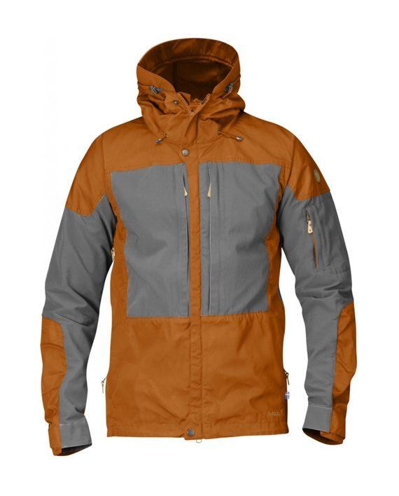 Fjällräven Keb Jacket Seashell Orange-Grey kjøper du på SQOOP outdoor