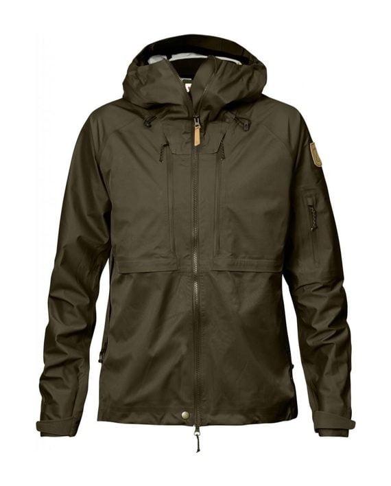 Fjällräven Keb Eco-Shell Jacket W Dark Olive kjøper du på SQOOP outdoor
