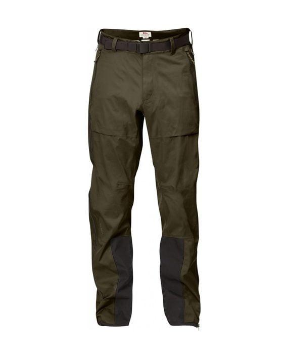 Fjällräven Keb Eco-Shell Trousers Dark Olive kjøper du på SQOOP outdoor