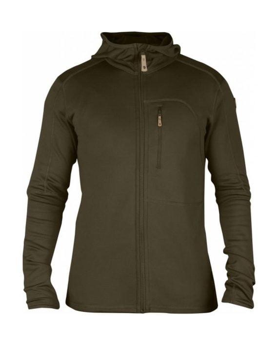 Fjällräven Keb Fleece Jacket Dark Olive kjøper du på SQOOP outdoor