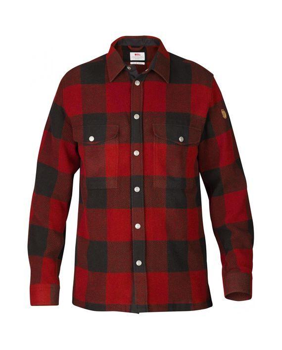 Fjällräven Canada Shirt RED kjøper du på SQOOP outdoor