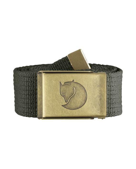 Fjällräven Canvas Brass Belt 4 cm. MOUNTAIN GREY kjøper du på SQOOP outdoor