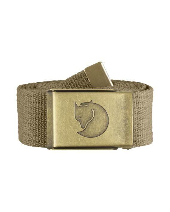 Fjällräven Canvas Brass Belt 4 cm. SAND kjøper du på SQOOP outdoor