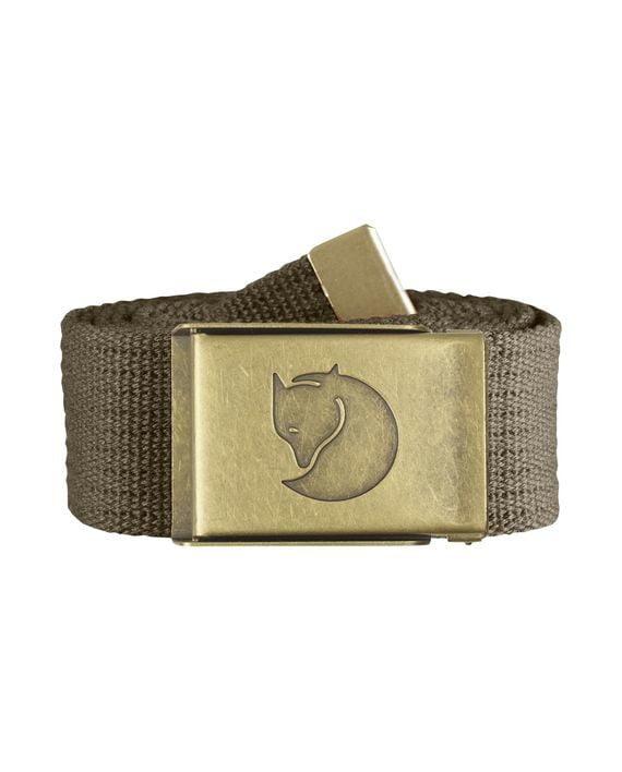 Fjällräven Canvas Brass Belt 4 cm. TAUPE kjøper du på SQOOP outdoor