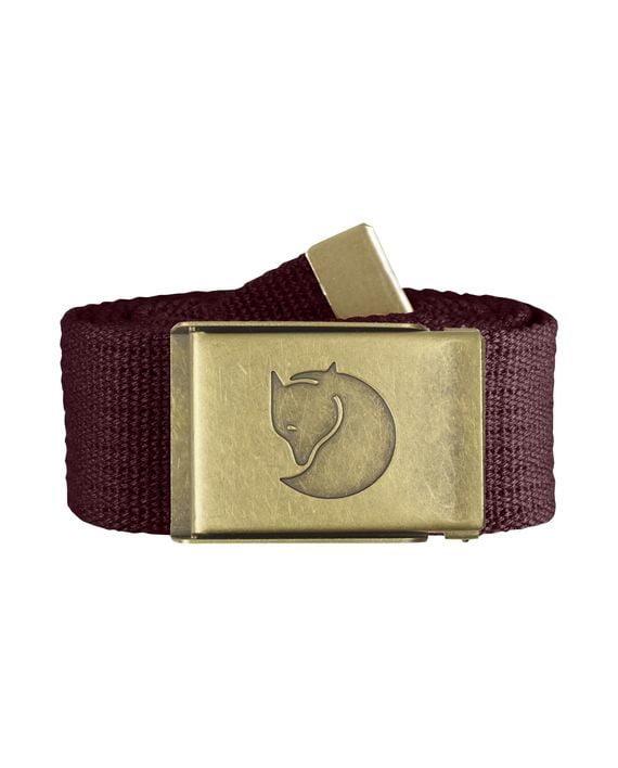 Fjällräven Canvas Brass Belt 4 cm. DARK GARNET kjøper du på SQOOP outdoor