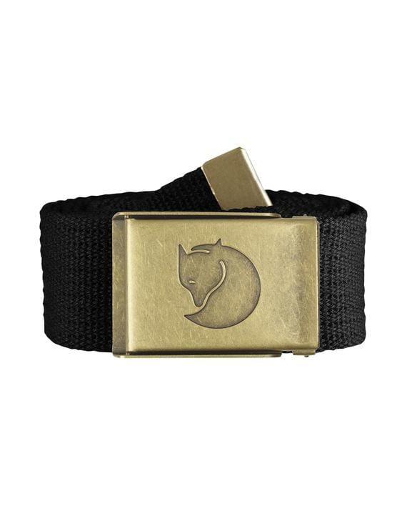 Fjällräven Canvas Brass Belt 4 cm. BLACK kjøper du på SQOOP outdoor