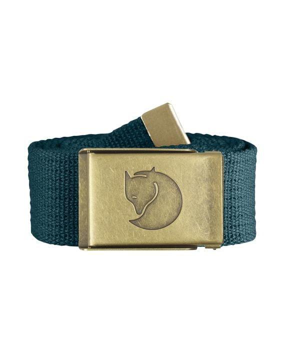 Fjällräven Canvas Brass Belt 4 cm. GLACIER GREEN kjøper du på SQOOP outdoor