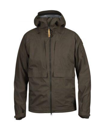 Fjällräven Lappland Eco-Shell Jacket DARK OLIVE kjøper du på SQOOP outdoor