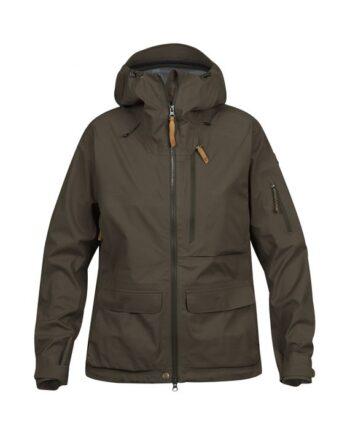 Fjällräven Lappland Eco-Shell Jacket W DARK OLIVE kjøper du på SQOOP outdoor
