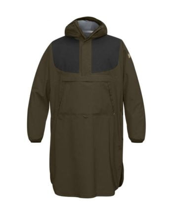 Fjällräven Lappland Eco-Shell Poncho DARK OLIVE-ORANGE CAMO kjøper du på SQOOP outdoor