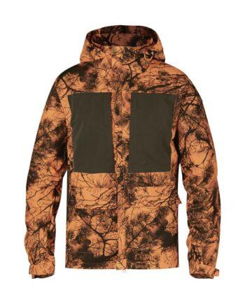 Fjällräven Lappland Hybrid Jacket Camo ORANGE CAMO kjøper du på SQOOP outdoor