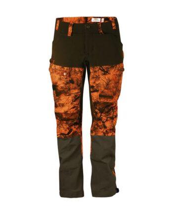Fjällräven Lappland Hybrid Trousers Camo W ORANGE CAMO kjøper du på SQOOP outdoor