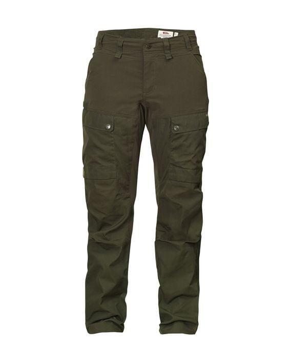 Fjällräven Lappland Hybrid Trousers W DARK OLIVE kjøper du på SQOOP outdoor