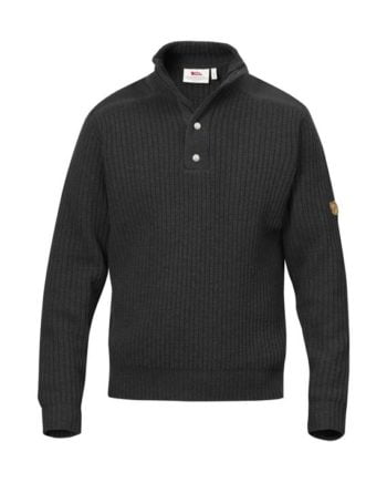 Fjällräven Värmland T-neck Sweater DARK GREY kjøper du på SQOOP outdoor