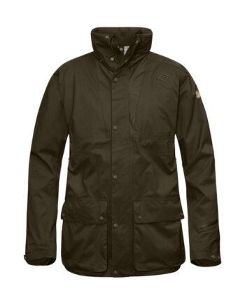 Fjällräven Värmland Eco-Shell Jacket DARK OLIVE kjøper du på SQOOP outdoor