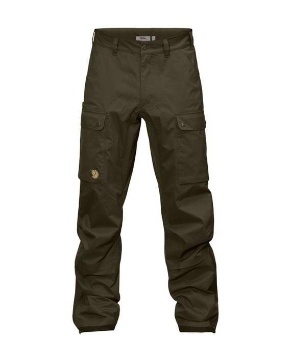 Fjällräven Värmland Eco-Shell Trousers DARK OLIVE kjøper du på SQOOP outdoor