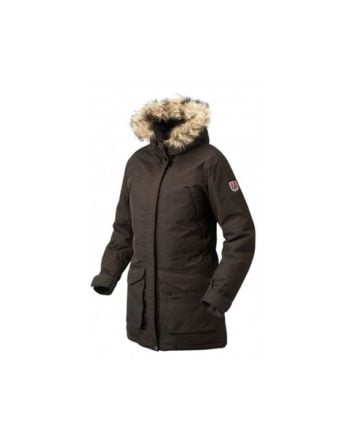 Fjällräven Kyla Parka BLACK BROWN kjøper du på SQOOP outdoor (SQOOP.no)