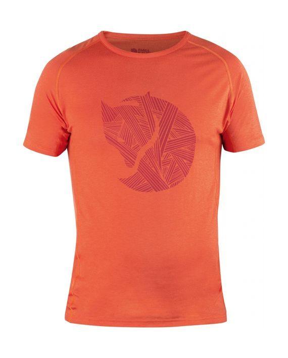 Fjällräven Abisko Trail T-Shirt Print FLAME ORANGE kjøper du på SQOOP outdoor (SQOOP.no)