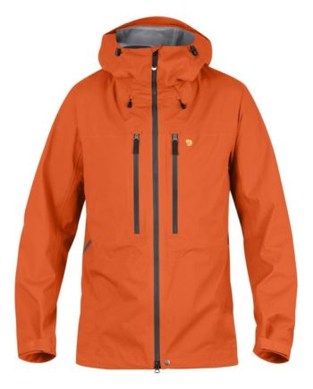Fjällräven Bergtagen Eco-Shell Jacket HOKKAIDO ORANGE kjøper du på SQOOP outdoor (SQOOP.no)