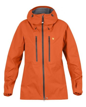 Fjällräven Bergtagen Eco-Shell Jacket W HOKKAIDO ORANGE kjøper du på SQOOP outdoor (SQOOP.no)