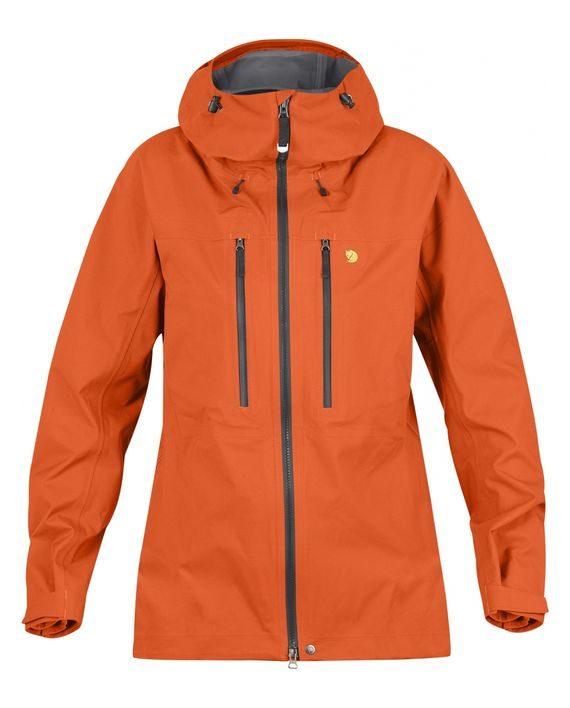 Fjällräven Bergtagen Eco-Shell Jacket W HOKKAIDO ORANGE kjøper du på SQOOP outdoor (SQOOP.no)