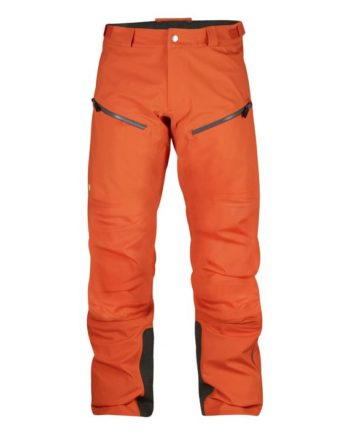 Fjällräven Bergtagen Eco-Shell Trousers HOKKAIDO ORANGE kjøper du på SQOOP outdoor (SQOOP.no)