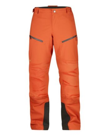 Fjällräven Bergtagen Eco-Shell Trousers W HOKKAIDO ORANGE kjøper du på SQOOP outdoor (SQOOP.no)