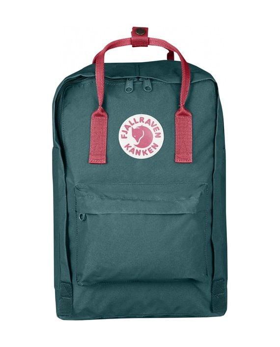 """Fjällräven Kånken 15"""" Laptop FROST GREEN-PEACH PINK kjøper du på SQOOP outdoor (SQOOP.no)"""