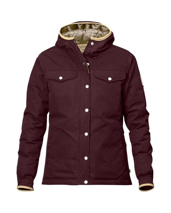 Fjällräven Greenland No.1 Down Jacket W DARK GARNET kjøper du på SQOOP outdoor (SQOOP.no)