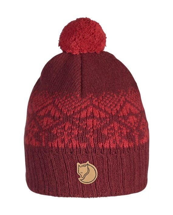 Fjällräven Kids Snowball Hat DARK GARNET kjøper du på SQOOP outdoor (SQOOP.no)