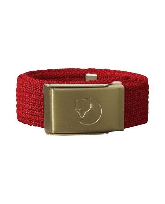 Fjällräven Kids Canvas Brass Belt RED kjøper du på SQOOP outdoor (SQOOP.no)