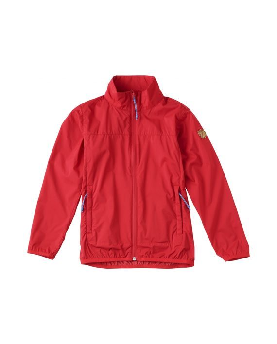 Fjällräven Kids Abisko Windbreaker Jacket RED kjøper du på SQOOP outdoor (SQOOP.no)
