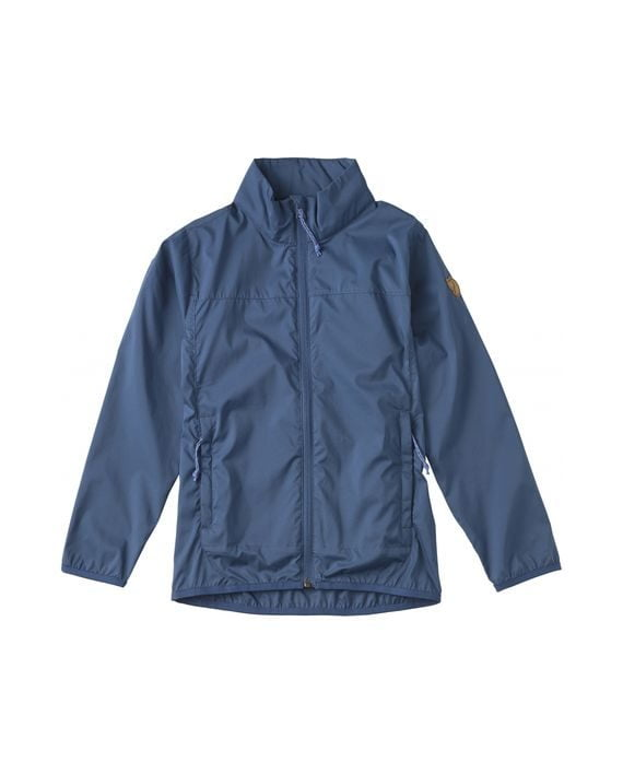 Fjällräven Kids Abisko Windbreaker Jacket UNCLE BLUE kjøper du på SQOOP outdoor (SQOOP.no)