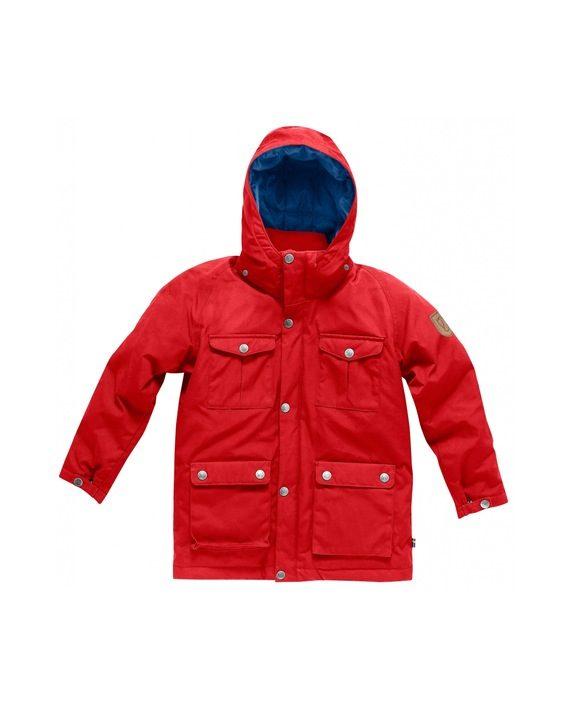 Fjällräven Kids Greenland Down Parka RED kjøper du på SQOOP outdoor (SQOOP.no)
