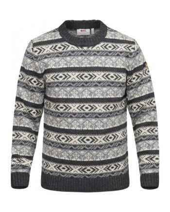 Fjällräven Övik Folk Knit Sweater M DARK GREY kjøper du på SQOOP outdoor (SQOOP.no)