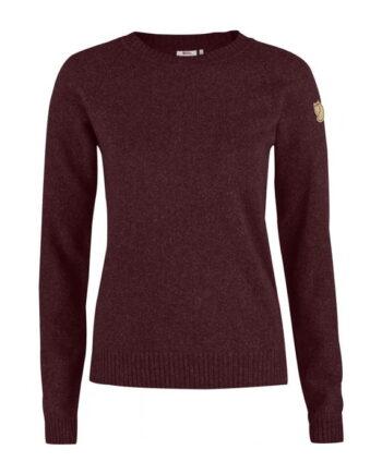 Fjällräven Övik Re-Wool Sweater W DARK GARNET kjøper du på SQOOP outdoor (SQOOP.no)