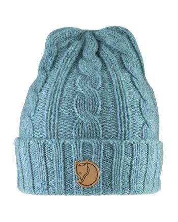 Fjällräven Braided Knit Hat - lue ullblanding FROST GREEN kjøper du på SQOOP outdoor (SQOOP.no)