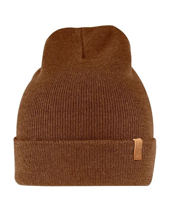 Fjällräven Classic Knit Hat lue Merinoull CHESTNUT kjøper du på SQOOP outdoor (SQOOP.no)
