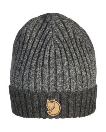 Fjällräven Two-Tone Rib Hat - ribbestrikket lue ull DARK GREY kjøper du på SQOOP outdoor (SQOOP.no)