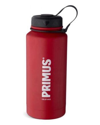 Primus TrailBottle 0.8L Vacuum Red  kjøper du på SQOOP outdoor (SQOOP.no)