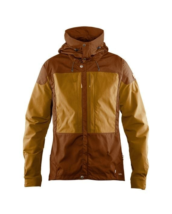 Fjällräven Keb Jacket M CHESTNUT-ACORN kjøper du på SQOOP outdoor (SQOOP.no)