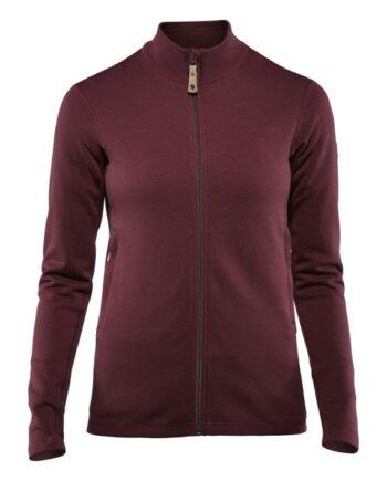 Fjällräven Keb Wool Sweater W DARK GARNET kjøper du på SQOOP outdoor (SQOOP.no)