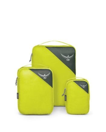 Ultralight Packing Cube Set Electric Lime S/M/L
