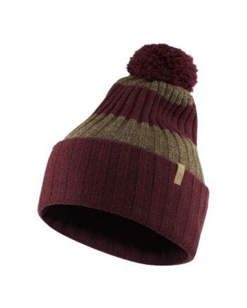 Fjällräven Byron Solid Pom Hat DARK GARNET kjøper du på SQOOP outdoor (SQOOP.no)